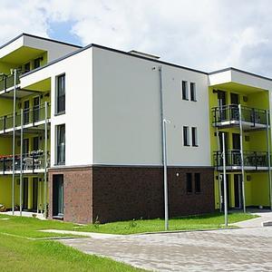 Neubau eines Wohnhauses mit 16 barrienrefreien Appartements sowie Service- u. Gruppenwohnbereich
